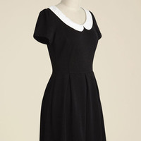 Record Time A-Line Dress in Black | Mod Retro Vintage Dresses | ModCloth.com
