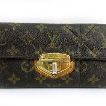 Auth Louis Vuitton Monogram Etoile Portefeuille Sarah M66556 Long Wallet 47592