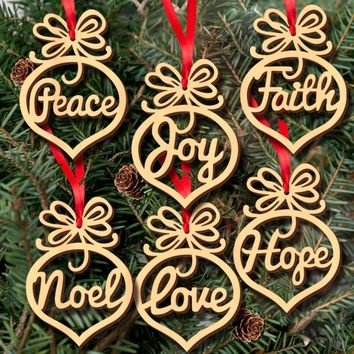 6Pcs Christmas Decorations Wooden Ornament Xmas Tree Hanging Tags Pendant navidad decor for home 2017 #XTT