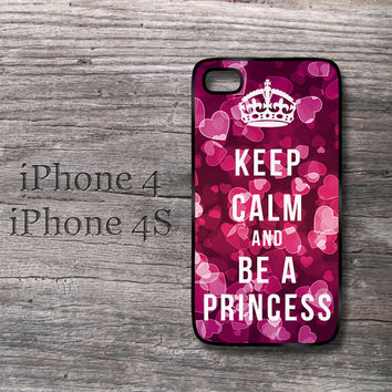 Love iPhone case Keep Calm and be a Princess cute by MonogramCase