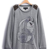 Lovely Bunny Neck Pullover Sweatshirt$44.00
