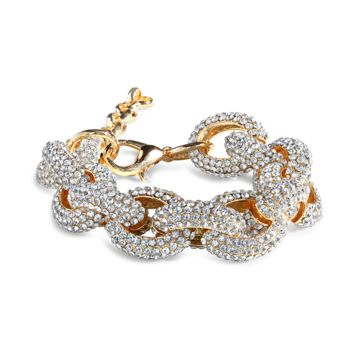 Pave Chain Bracelet in Anti Gold