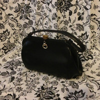 Vintage Handbag, Purse, Black