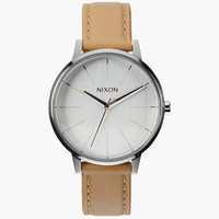 Nixon Kensington Leather Watch Natural/Silver One Size For Women 25951842301