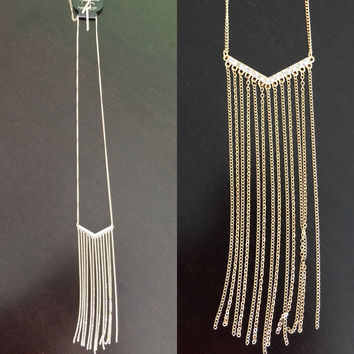 Long & Loose Necklace: Silver