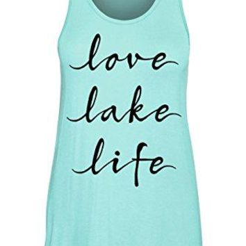 COLORBEAR Love Lake Life Scoop Neck Tank TOP