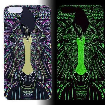 Horse Luminous Light Up Case Cover for iPhone 5s / iPhone 6s / iPhone 6s Plus-170928