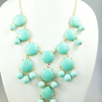 Pale Turquoise Bubble Necklace,25mm Large Beads,Fashion Statement Women Necklace,Girls Gift Necklace,Bridesmaid Gift