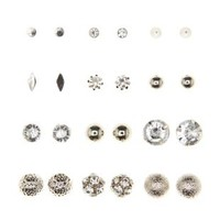 Diamantes, Globe, & Shape Earrings - 12 Pack
