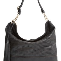 Sole Society 'Emmie' Perforated Hobo Bag