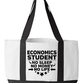 Economics Student Tote Bag Economist College Majors Finance Degree Funny Bookbag Financial University Book Bag