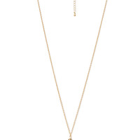 FOREVER 21 Prism of Love Pendant Necklace Gold/Light Brown One