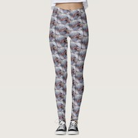 Cute, Fun Stylish Hawaii Sea Turtle Close-up Photo Leggings