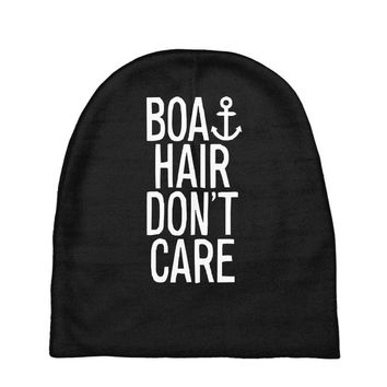 boat hair don't care Baby Beanies