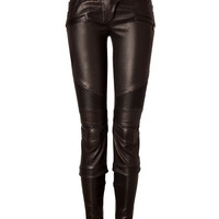 Balmain - Leather Biker Pants in Black