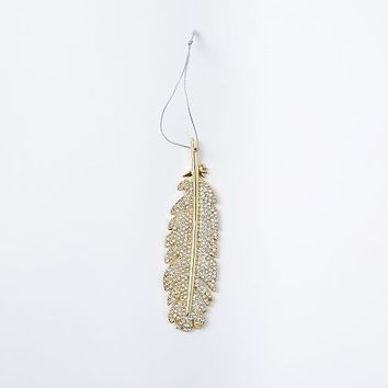 Jeweled Ornament - Feather