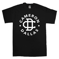 cameron dallas logo  For T-shirt Unisex Adults size S-2XL Black and White