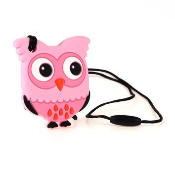 TYRY.HU 1pc Owl Silicone Teether Necklace Pendant Pacifier Chain Baby Teething Play Toys Nursing Food Grade Silicone BPA Free