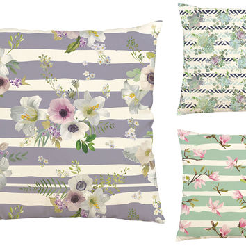 Seamless Floral Pattern Printed Cotton Pillowcover Cushion Case VPLC_03