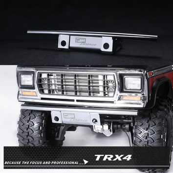 XBERSTAR Stainless Steel Metal Front Bumper Guard for DJ TRAXXAS TRX4 TRX-4 Ford Bronco Rc Car Parts Silver