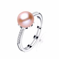 Freshwater Pearl Infinity Silver Ring