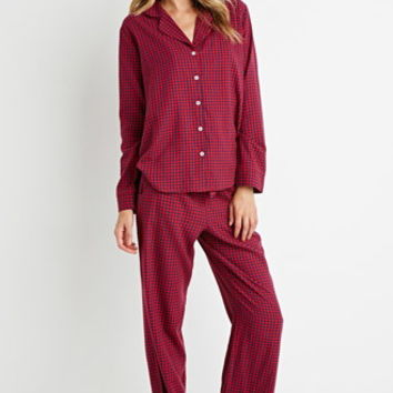 Gingham Flannel PJ Set