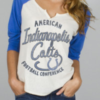 NFL Indianapolis Colts Rookie Raglan - Women's Collections - NFL - All - Junk Food Clothing