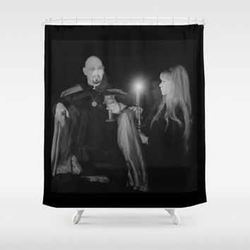 la vey, woman, candle Shower Curtain by Kathead Tarot/David Rivera