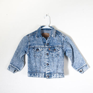 Vintage Levi's ACID WASH Jean Jacket | 80s Jean Jacket Denim Jacket Levi Jeans Levi Jacket Baby Fashion Kids Toddler Boho Hipster USA Made
