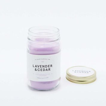 Lavender & Cedar Candle Jar - Urban Outfitters