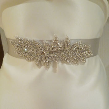 Bridal Rhinestone Sash ISABELLA Crystal Sash by BellaCescaBoutique