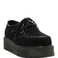 Demonia By Pleaser Black Suede Creepers