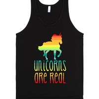 Unicorns Are Real-Unisex Black Tank