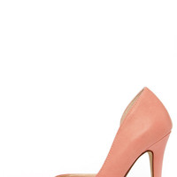 My Delicious Mitten Light Salmon Pink D'Orsay Pumps