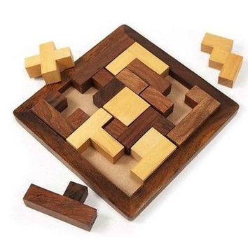 "Handmade ""Piece It Together"" Wood Puzzle - Matr Boomie"
