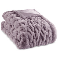 Madison Park Reversible Ruched Faux-Fur 50