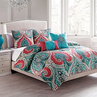 VCNY Casablanca Reversible Comforter Set in Turquoise