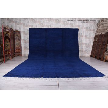 All wool moroccan rug, large, 10 FT X 14.2 FT