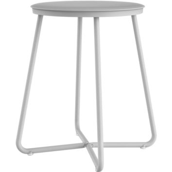 Susan Backless Vanity Stool Bench for Bath, Bedroom With Stainless Steel Legs