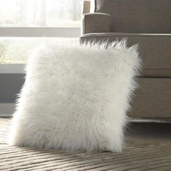 Giancario Faux Fur Accent Pillow