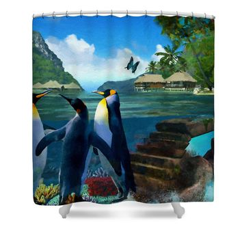 Fantasy Island Shower Curtain