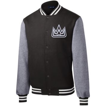 Embroidered Fleece Letterman Jacket