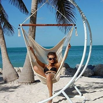 Hammocks Polyester Hanging Chair Swing Large 48-Inch Garden Hammock Chair