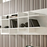 Open wall-mounted floating bookcase Seventies Collection by Las Mobili | design Nikolas Chachamis