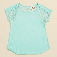 Kiddo Girls' Lacey Knit Top - Sizes S-XL | Bloomingdale's