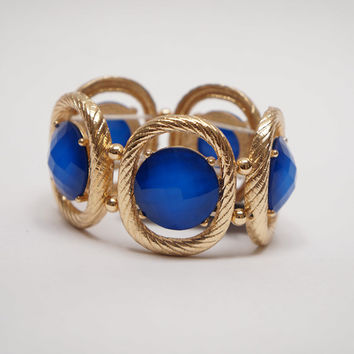 Be Jewel-ous Elastic Bracelet Royal Blue Ed.