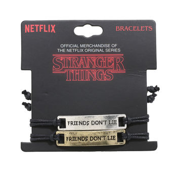 Stranger Things Friends Don't Lie Best Friend Cord Bracelet Set