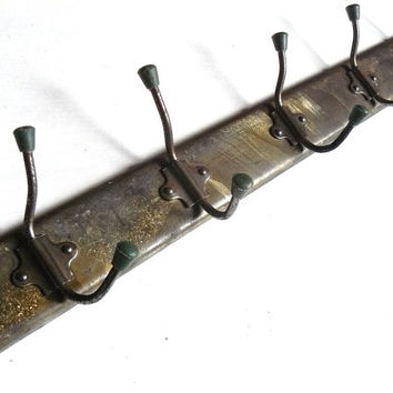 Soviet metal Wall Hanging, Primitive Wall Hook, Rustic Coat rack, Steampunk, Shabby chic, Made in USSR, Soviet era.