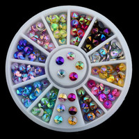 Multicolor Steepled Rhinestones DIY Nail Art Decoration