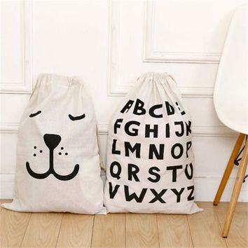 Cartoon Storage Bags Drawstring Backpack Children Room Organizer For Toy And Baby Clothings Kids Laundry Bag